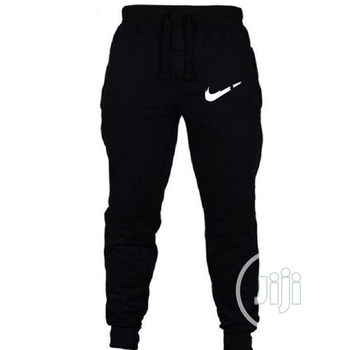 Joggers Trousers With Nike Logo | Clothing for sale in Egbeda, Oyo State, Nigeria