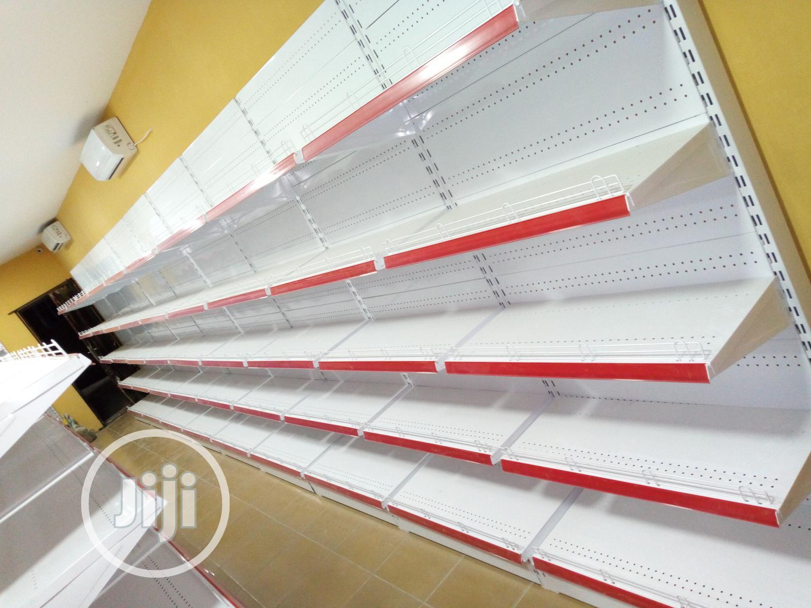 Single Supermarket Shelves