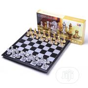 Foldable Magnetic Gold Chess Sets Gold&Silver | Books & Games for sale in Lagos State, Surulere