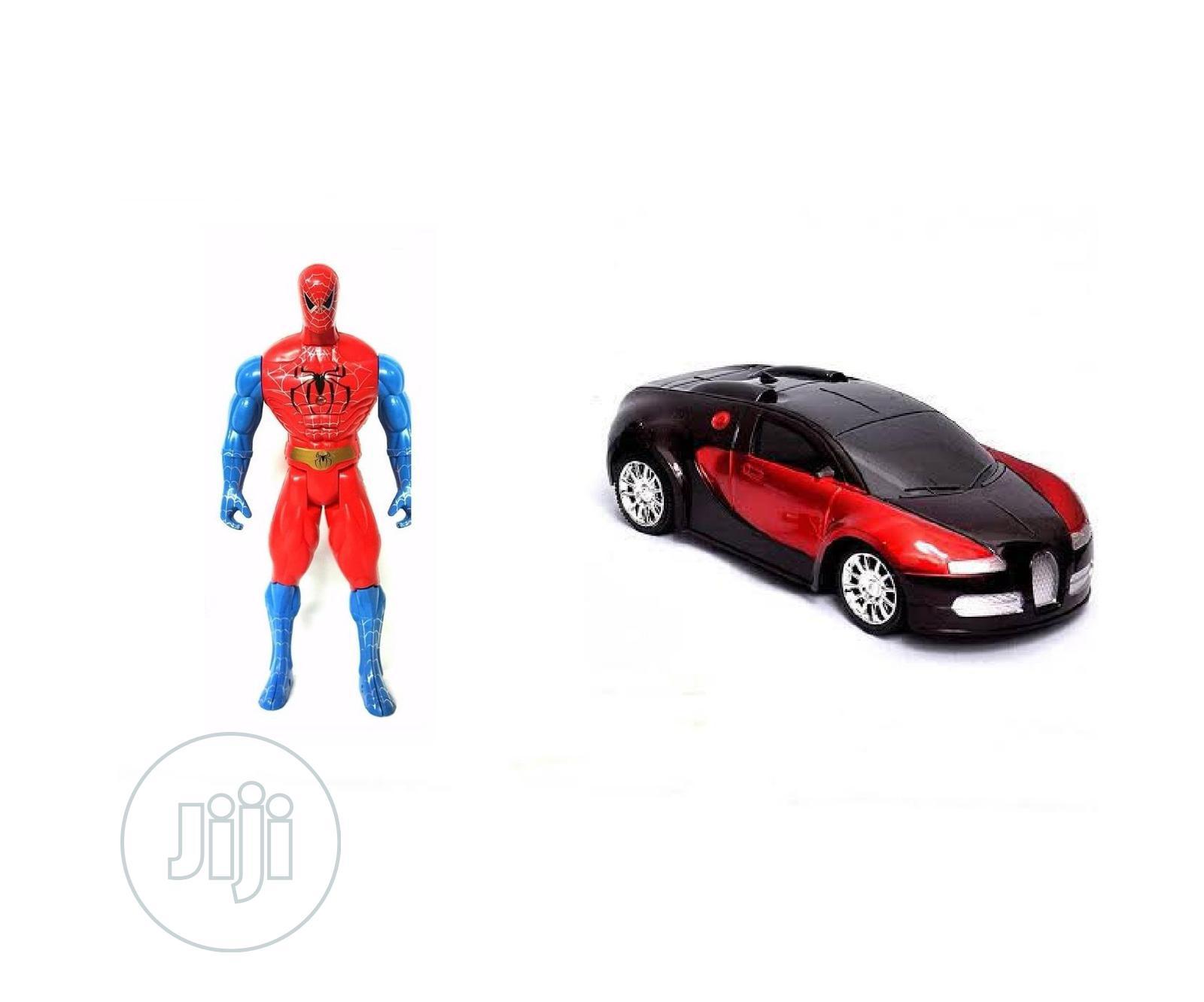 Children Fun Spider-man Toy Plus Battery Powered Siren Toy Car
