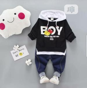 Quality Boys Hooded Long Sleeve Top and Jeans   Children's Clothing for sale in Lagos State, Surulere