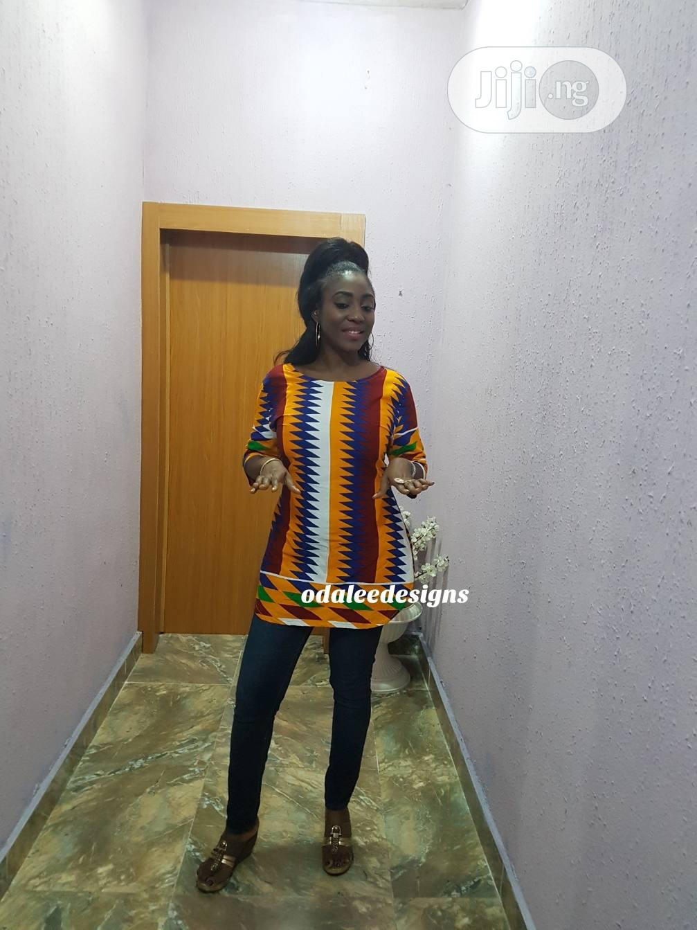 Kente Tunic Top in Different Sizes