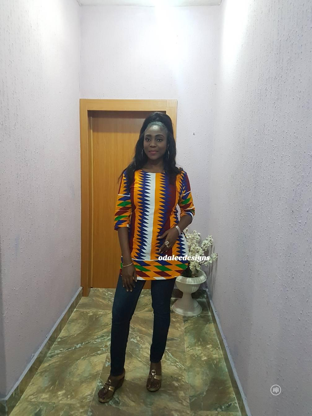 Kente Tunic Top in Different Sizes | Clothing for sale in Gbagada, Lagos State, Nigeria