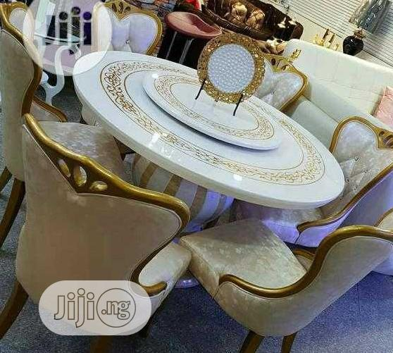 Archive: Royal Round Dinning Table By 6 Chairs