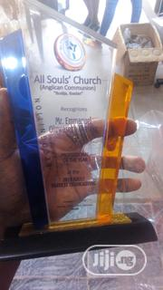 Acrylic Award With Printing   Arts & Crafts for sale in Lagos State, Agboyi/Ketu