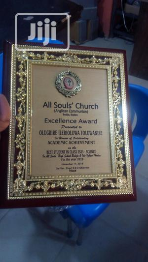 Presentable Wooden Plaque Award   Arts & Crafts for sale in Lagos State, Ojota