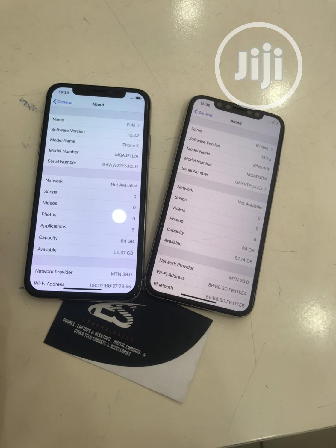 Apple iPhone X 64 GB White   Mobile Phones for sale in Nyanya, Abuja (FCT) State, Nigeria