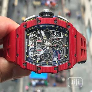 Richard Mille Chronograph Red Rubber Strap Watch | Watches for sale in Lagos State, Lagos Island (Eko)