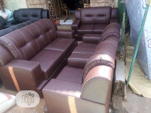Sofa Chair Complete 7 Seater With High Quality Leather | Furniture for sale in Lagos State, Oshodi