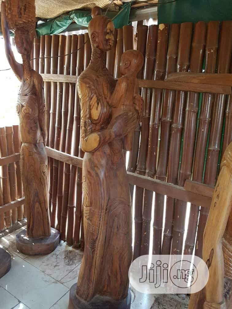 Life-size Wood Sculptures   Arts & Crafts for sale in Wuse, Abuja (FCT) State, Nigeria