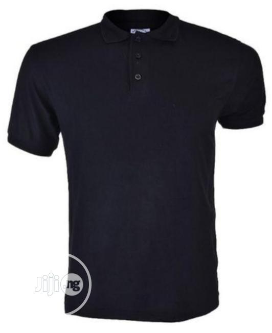 Royal Queen's Polo Plain T-shirt - Black | Clothing for sale in Mushin, Lagos State, Nigeria