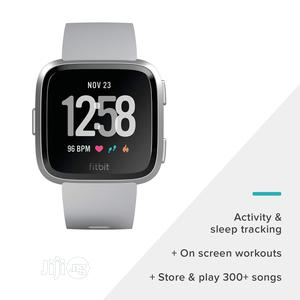 Fitbit Versa Wireless Bluetooth Tracker - Grey & Silver - Small | Smart Watches & Trackers for sale in Lagos State, Ikeja