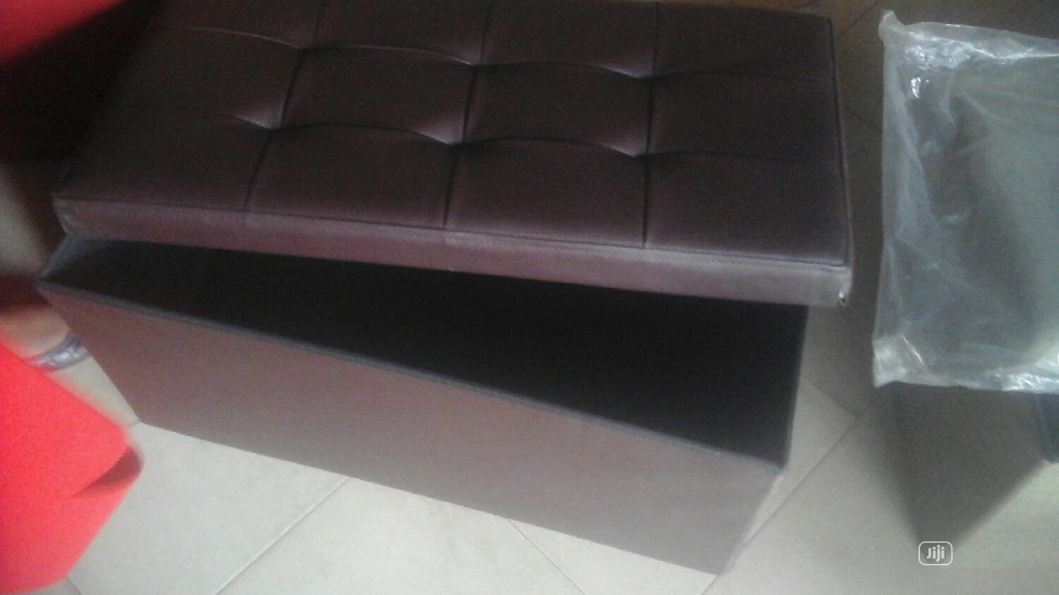 Large Foldable Leather Coffee Brown Luxury Hamper Gift Box | Arts & Crafts for sale in Maryland, Lagos State, Nigeria