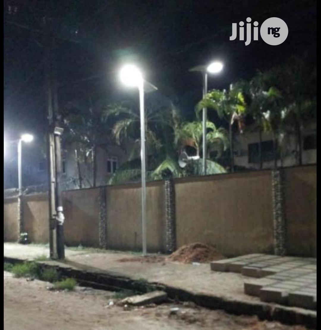 All In One Solar Street Light And Pole 2 Years Warranty