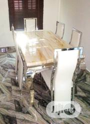 Brand New Marble Dining Table by Six Seater | Furniture for sale in Oyo State, Igbo Ora