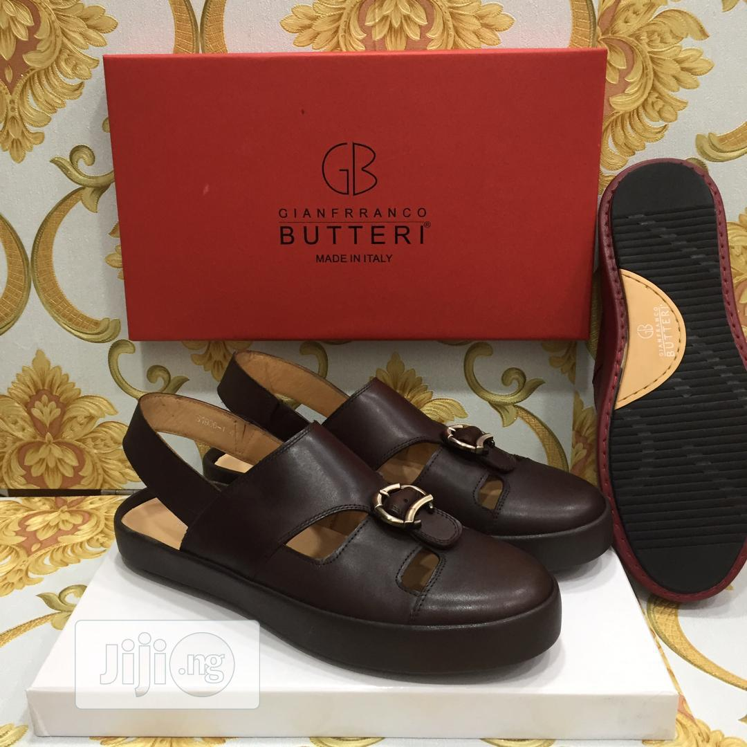 Quality Gianfranco Butteri Men's Pure Leather Sandals