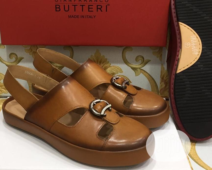 Quality Gianfranco Butteri Men's Pure Leather Sandals | Shoes for sale in Lagos Island (Eko), Lagos State, Nigeria