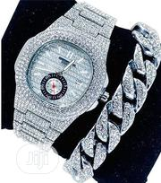 Keep Moving Wrist Watch And Bracelet - Silver | Jewelry for sale in Lagos State, Surulere