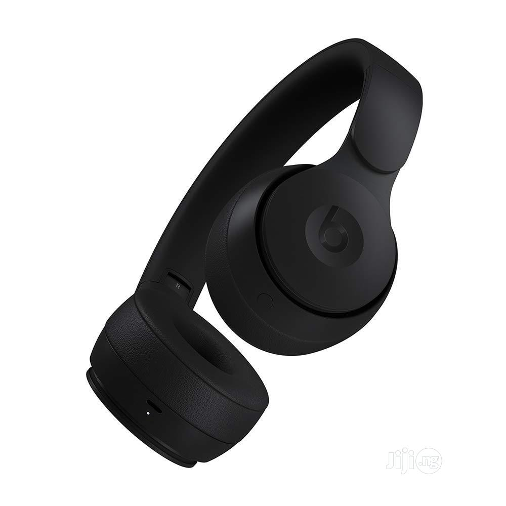 Beats Solo Pro Wireless Noise Cancelling On-ear Headphones - Black | Headphones for sale in Ikeja, Lagos State, Nigeria