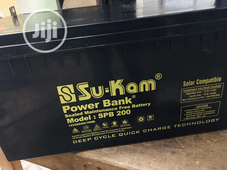 200ah 12v SUKAM Battery Available With 1yr Warranty