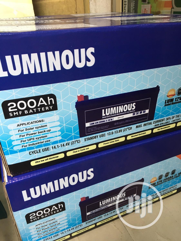 200ah 12v LUMINOUS Battery Available With 2yrs Warranty