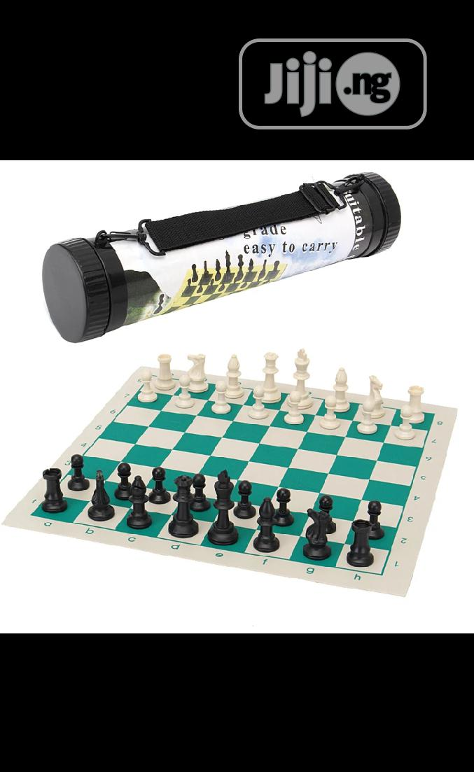 Tournament Chess Set Game With Portable Travel Carrier Box