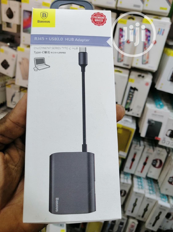 Enjoyment Series Hub Converter RJ45 +HDMI +USB3.0 To Type-c