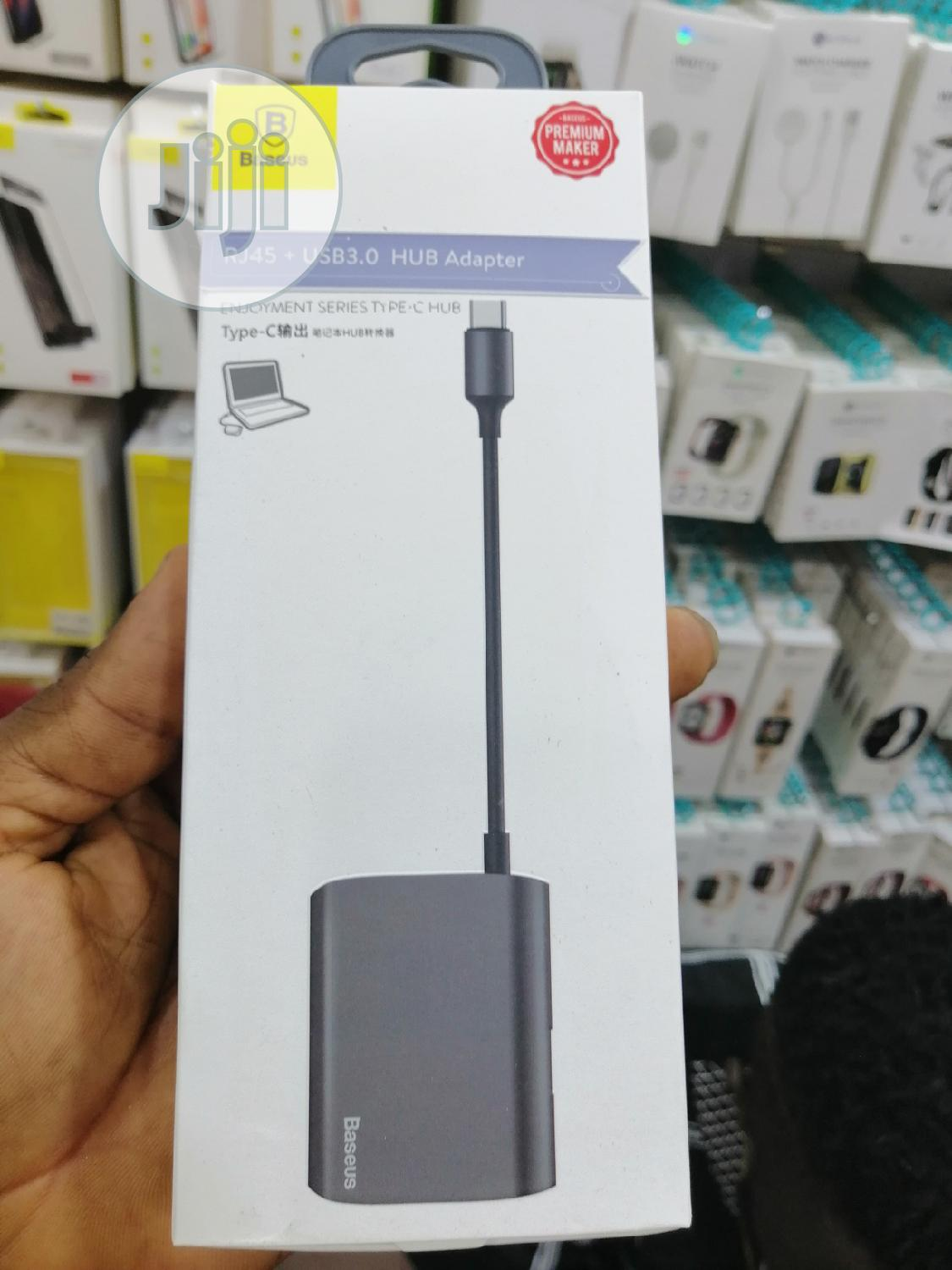 Enjoyment Series Hub Converter RJ45 +HDMI +USB3.0 To Type-c   Accessories & Supplies for Electronics for sale in Ikeja, Lagos State, Nigeria