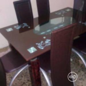 Classic Brown Glass Top Dining Table   Furniture for sale in Lagos State, Victoria Island