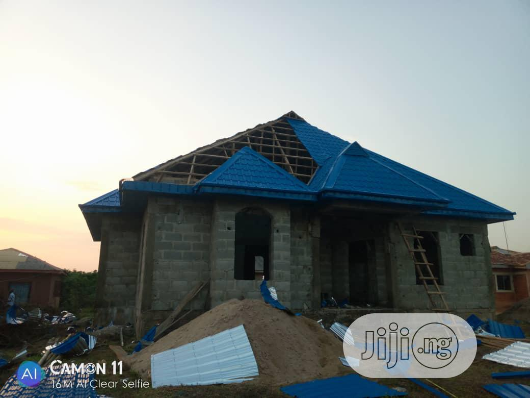 Step Tiles Aluminum Roofing Sheet Blues Surprise 0104