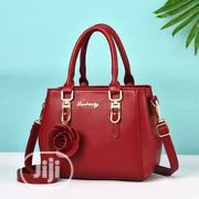 Danbaoly Portable Handbag With Side Flower Design -Red and Grey   Bags for sale in Lagos State, Surulere