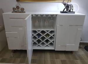 A Brand New White Cabinet With Wine Glass Cup Rack | Furniture for sale in Lagos State