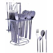 Silver Stainless Steel Cutlery Set - 24 Pieces | Kitchen & Dining for sale in Oyo State, Ido