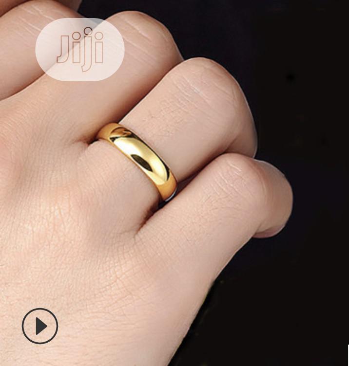 Men Wedding Ring 18k, Wedding Band - Adjustable