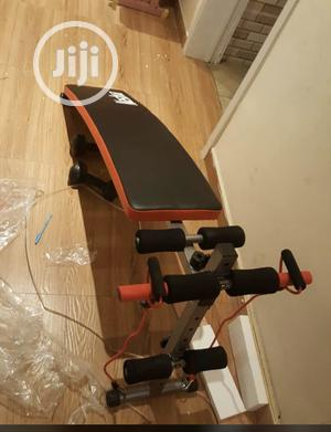 Tummy Trimmer Sit Up Bench With Stretch Band and Dumbell | Sports Equipment for sale in Abuja (FCT) State, Gwarinpa