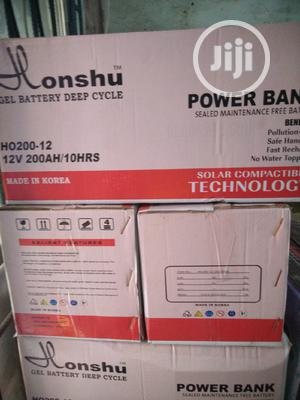 200ah/12v Honshu Gel Battery   Solar Energy for sale in Lagos State, Ojo