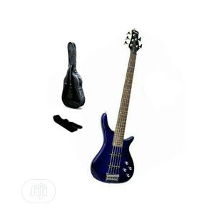 Yamaha 5 Strings Bass Guitar With Bag and Belt - Blue | Musical Instruments & Gear for sale in Lagos State, Ikeja