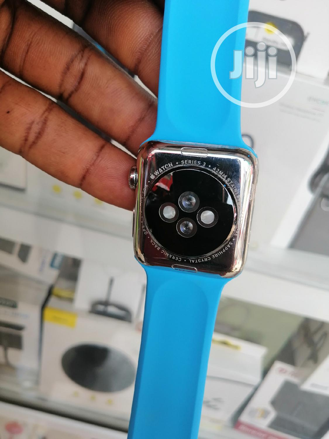 Apple Iwatch Series 3 42mm GPS+CELL UK Used   Smart Watches & Trackers for sale in Ikeja, Lagos State, Nigeria