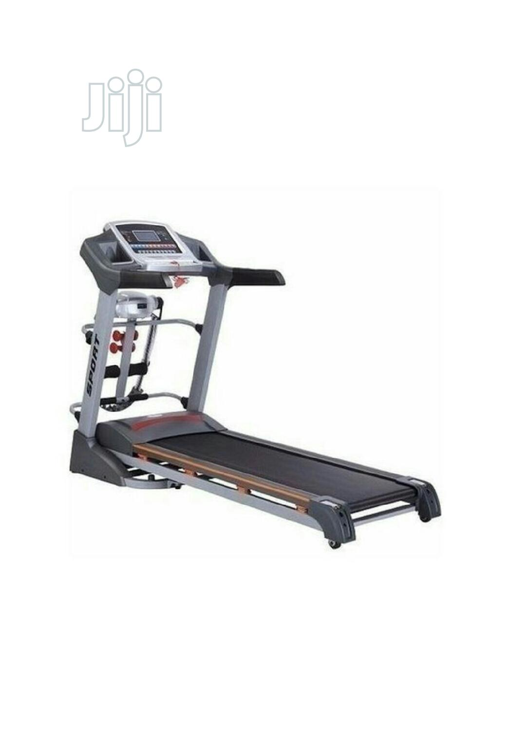 American Fitness 2.5HP Treadmill With Massager Dumbbells Incline