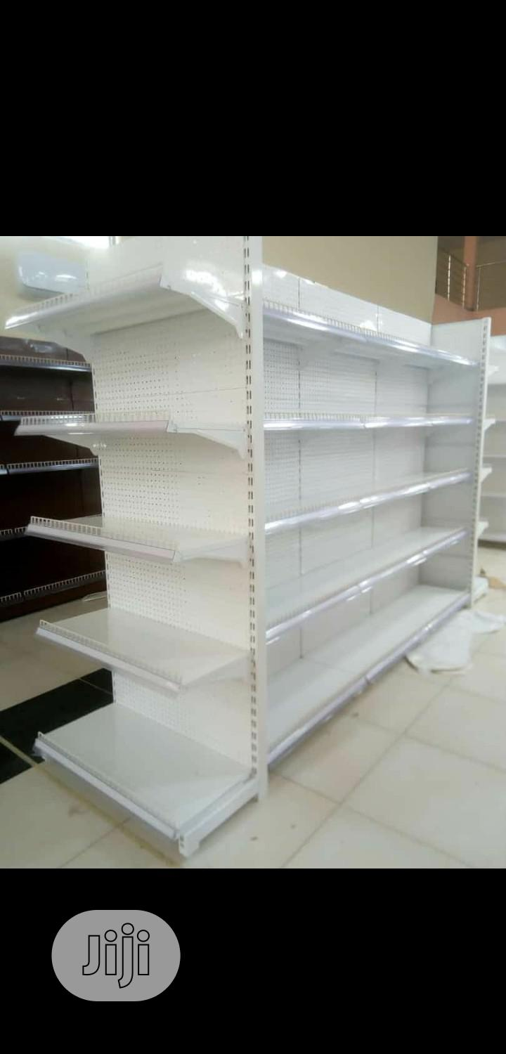 Single Sided Height 7feets Supermarket Display Shelving Racks