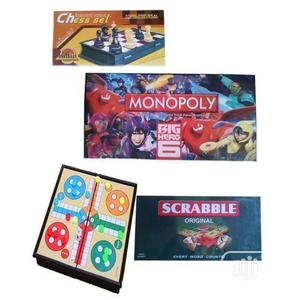 Monopoly + Scrabble + Ludo + Chess Board Game - ( 4 In 1)   Books & Games for sale in Lagos State, Surulere