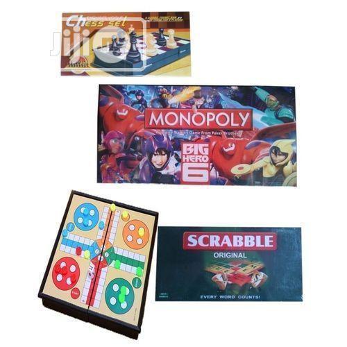 Monopoly + Scrabble + Ludo + Chess Board Game - ( 4 In 1)