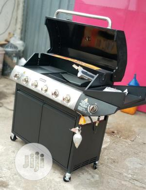 6 Burner Gas Barbeque Grill With Side Grill | Kitchen Appliances for sale in Lagos State, Ojo