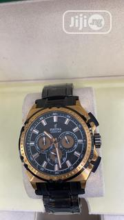 Festina Chronograph Rose Gold/Silver Chain Watch | Watches for sale in Lagos State, Lagos Island