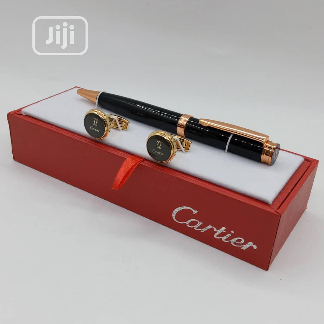 Cartier Pen And Cufflinks
