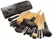 24 Pieces Professional Bamboo Makeup Brush Set + PU Leather Pouch | Makeup for sale in Lagos State, Ikeja