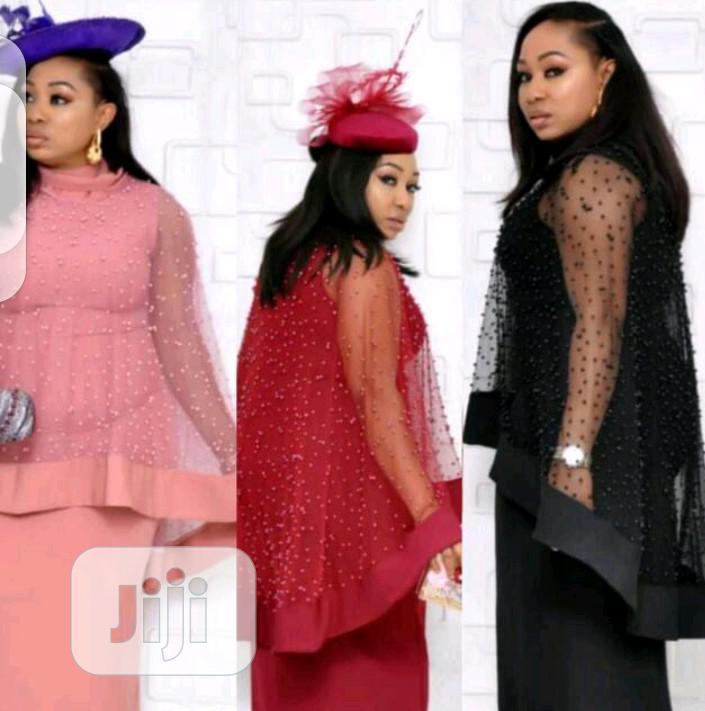 Ladies Long Dress and Detchable Cape