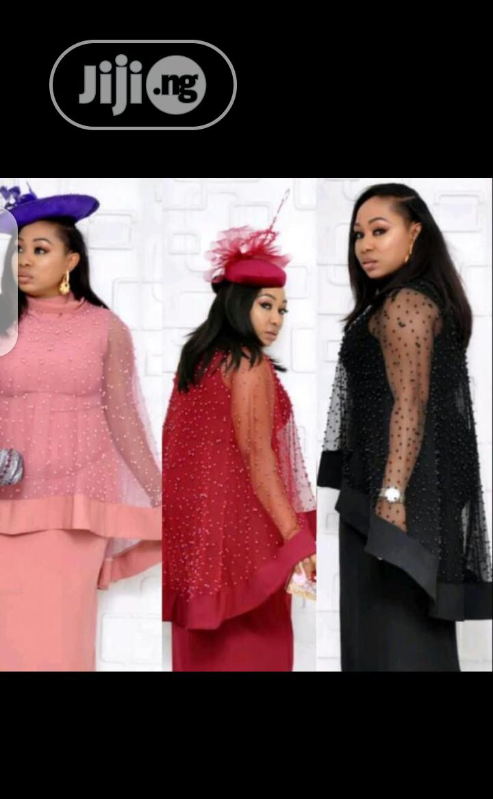 Ladies Long Dress and Detchable Cape   Clothing for sale in Ikeja, Lagos State, Nigeria