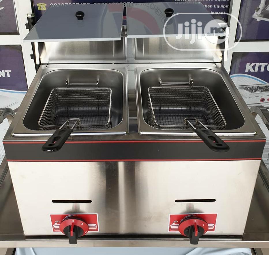Double Basket 6litres Table Top Gas Deep Fryer