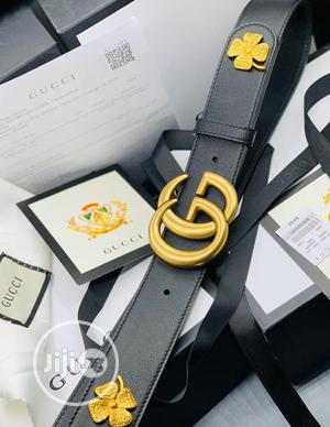 Original Gucci Italian Leather Belt For Men's | Clothing Accessories for sale in Lagos State, Lagos Island (Eko)